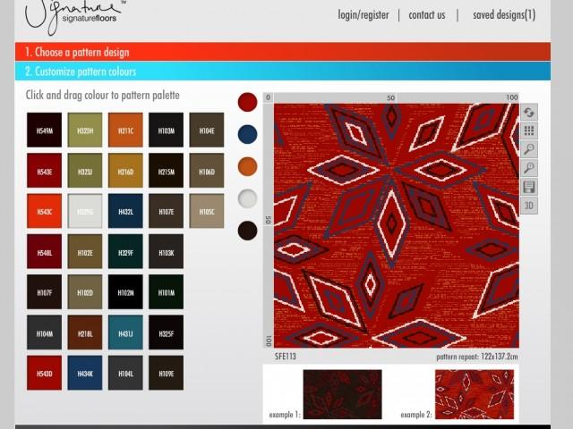 Navico carpet designer